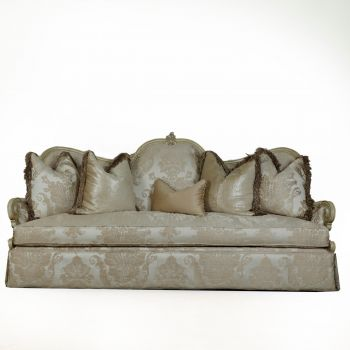 Wood Trim Sofa 09815