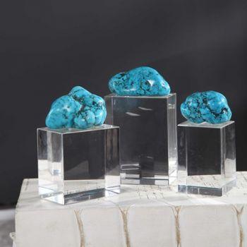 Turquoise Nugget 13H 8D(Cm) medium size